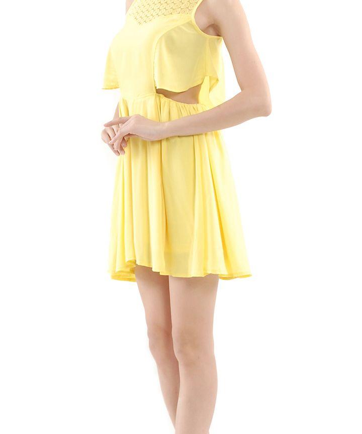 Tinkerbell Cut-Out Eyelet Dress