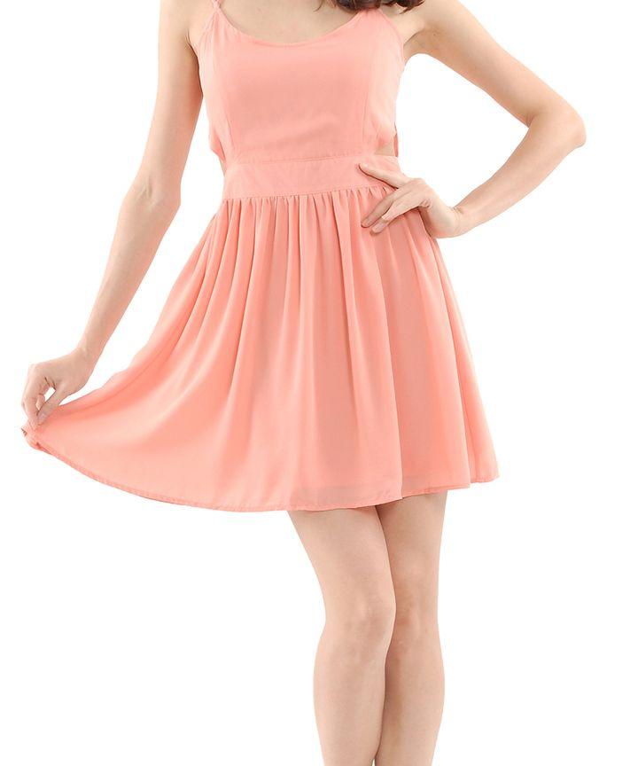 Kerr Cut-Out Halter Dress