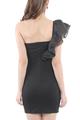 Noelle Romance Toga Mini Black Dress