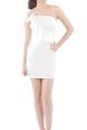 Noelle Romance Toga Mini White Dress