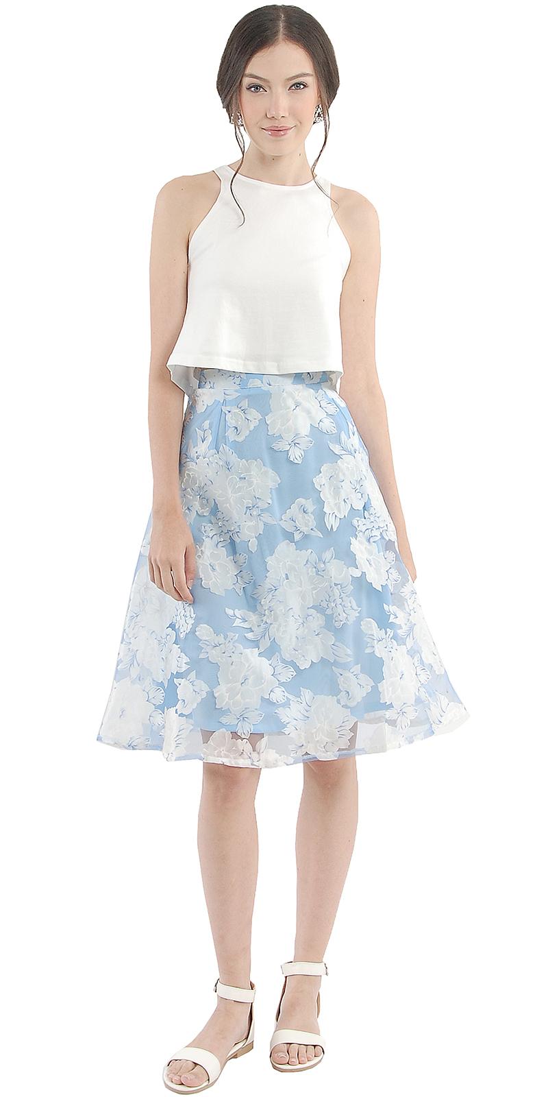 pale blue midi skirt dress ala