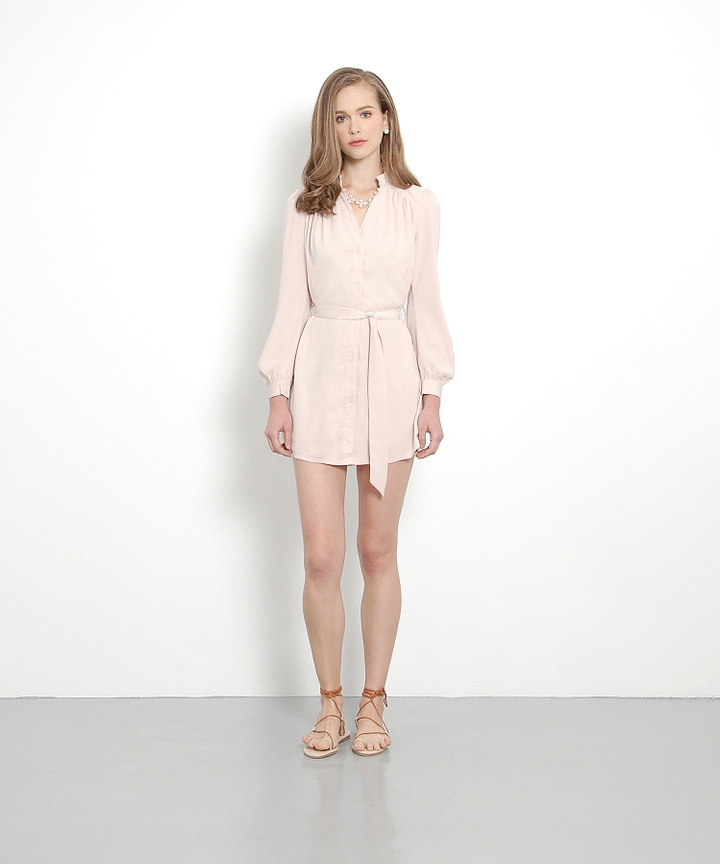Jacques Silky Shirtdress (Nouge)