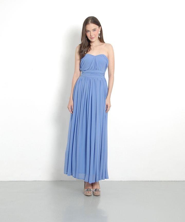 Perla Classic Maxi Dress - Cornflower Blue