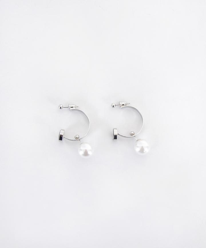 Double Hoop Pearl Earrings