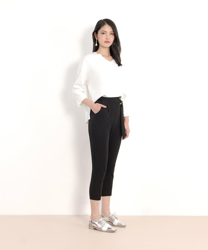 Highland Belted Trousers - Black