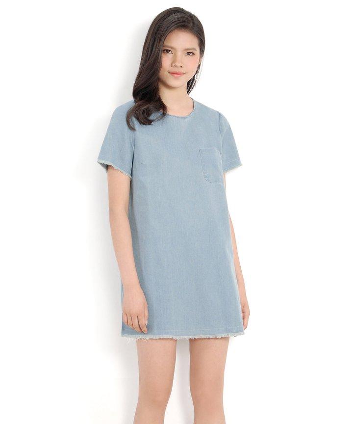 Leah Denim Shift Dress