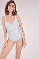 Dorothea Overlay Monokini Grey colour