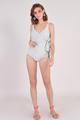 Dorothea Overlay Monokini Grey swimwear singapore blogshop