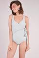 Dorothea Overlay Monokini Grey swimwear online