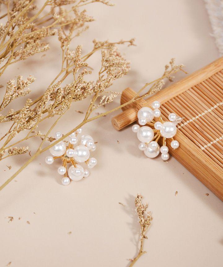 Frost Pearl Earrings (Restock)