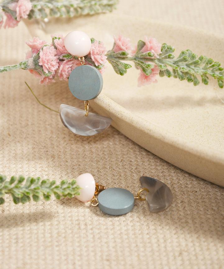 Sundae Semi-Circle Earrings - Blue