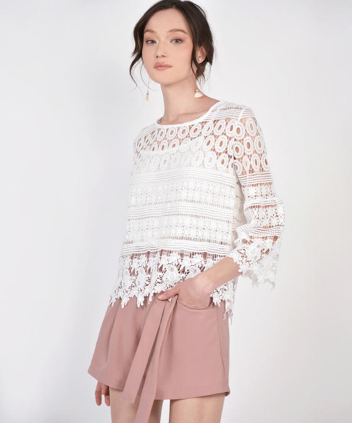 Sheryl Crochet Blouse - White