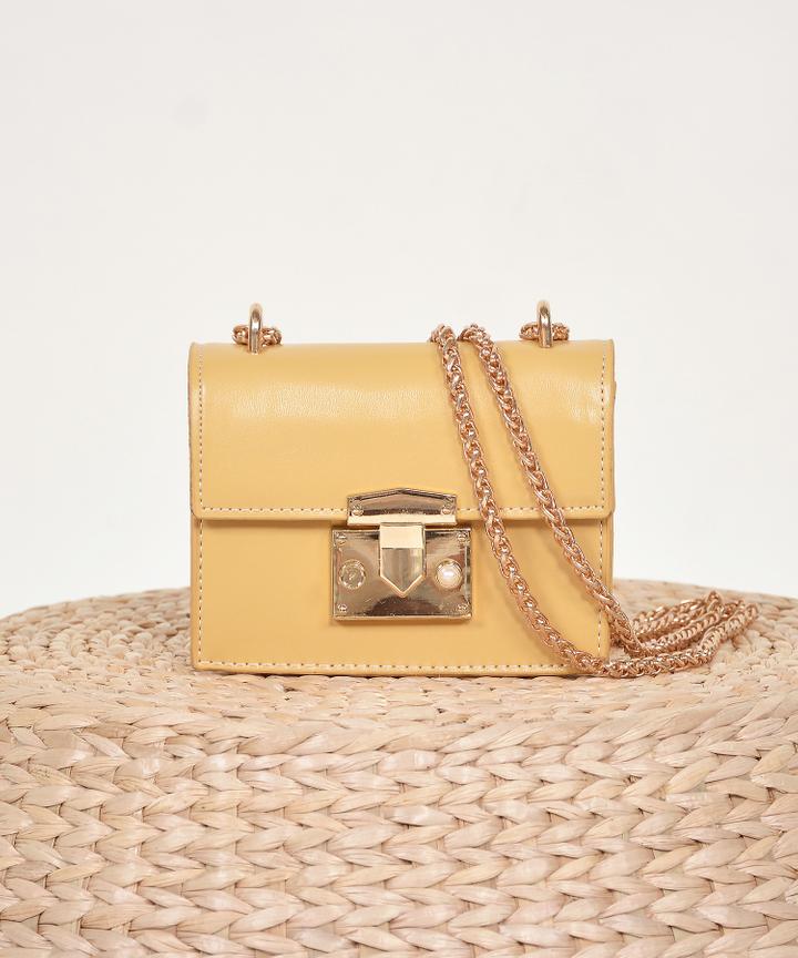 Lyon Shoulder Bag - Mustard