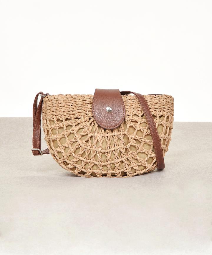 Rye Woven Semi-Circle Bag (Restock)