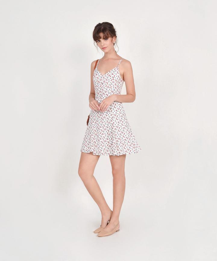 Bliss Floral Mini Dress - White