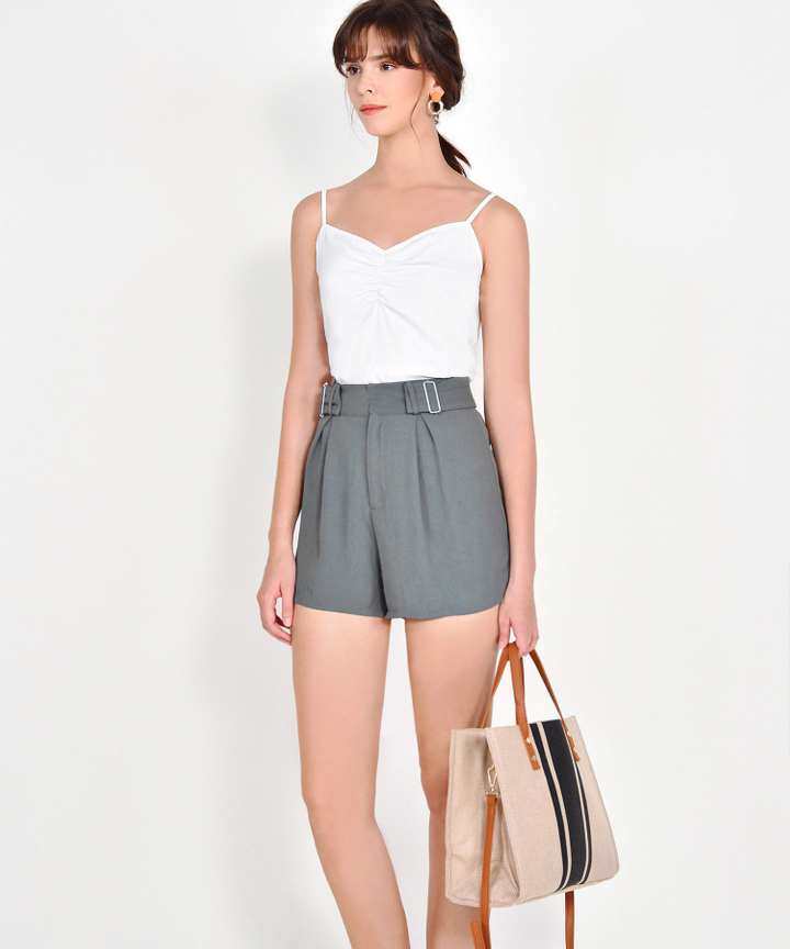 Cora Ruched Camisole - White
