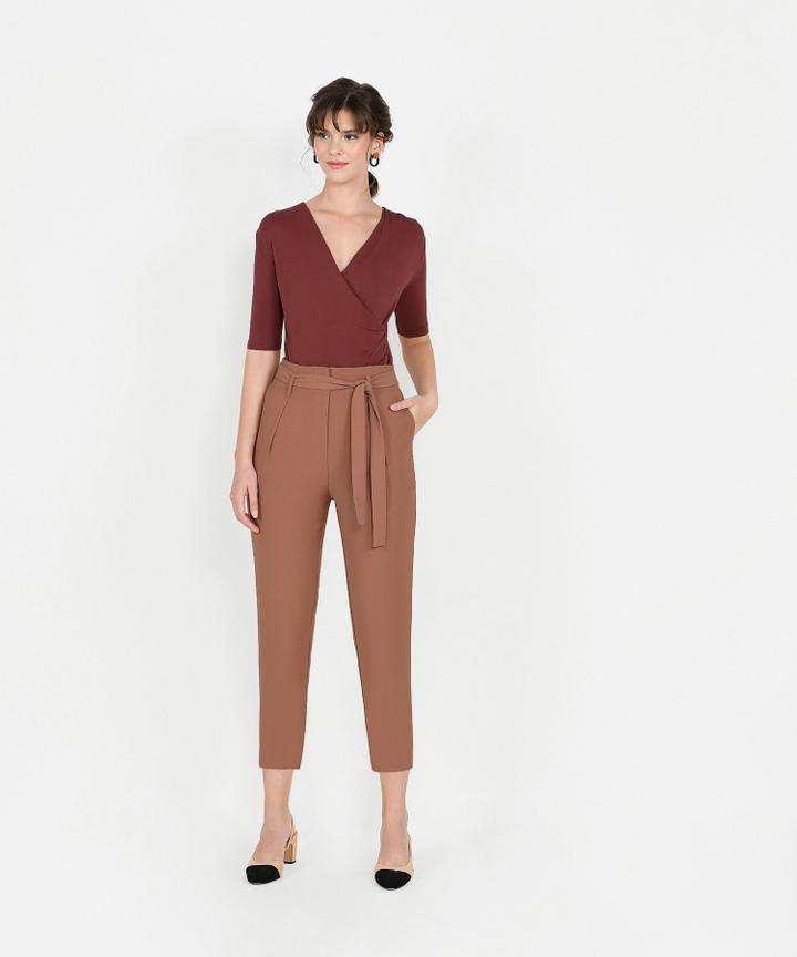 Edwina Cropped Trousers - Caramel