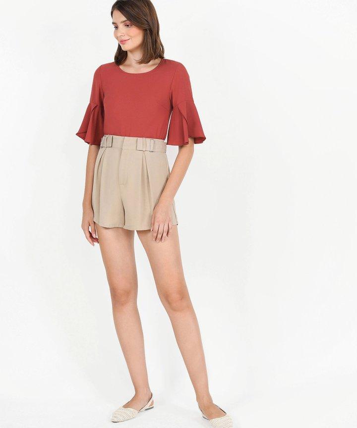 Viola Buckle Shorts - Sand