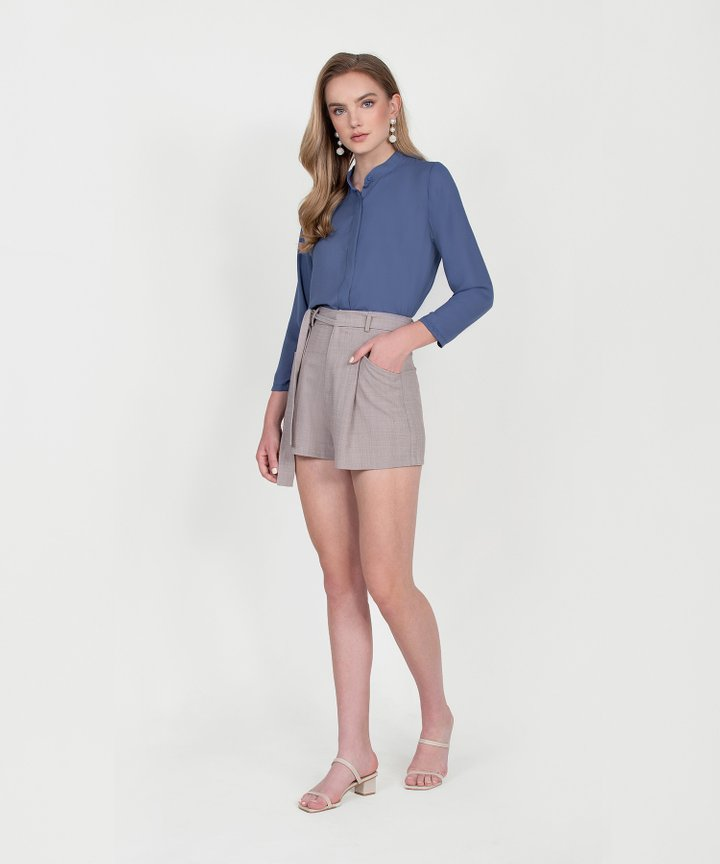 Rory Long Sleeve Blouse - Periwinkle Blue