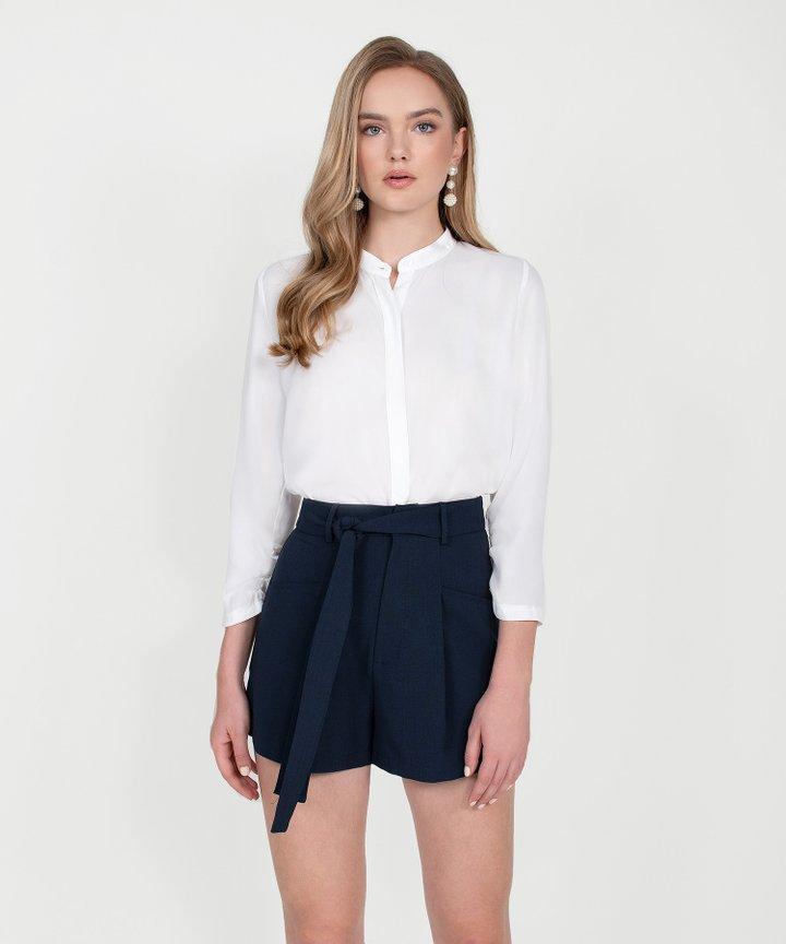 Axel Belted Shorts - Midnight Blue (Restock)