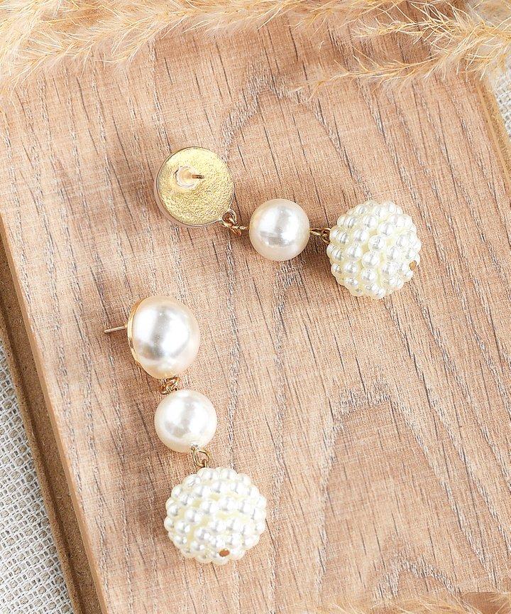 Angelika Pearl Tiered Earrings