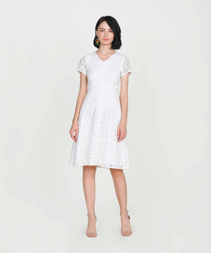 Silverlake Lace Midi - White