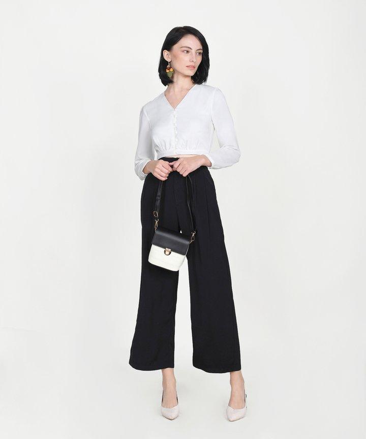 Yuri Cropped Blouse - White