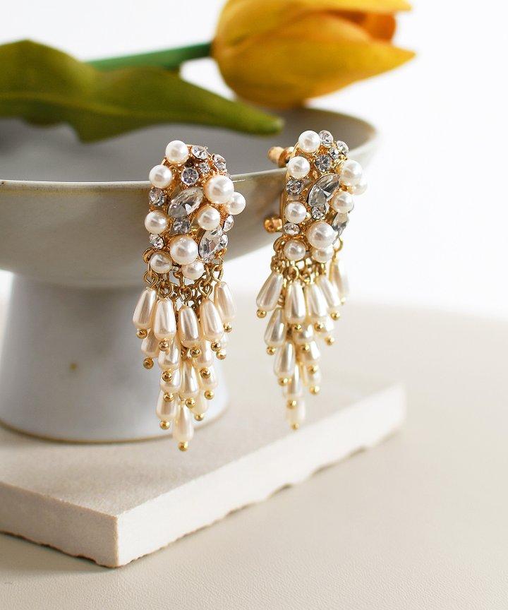 Per Se Pearl Cluster Earrings