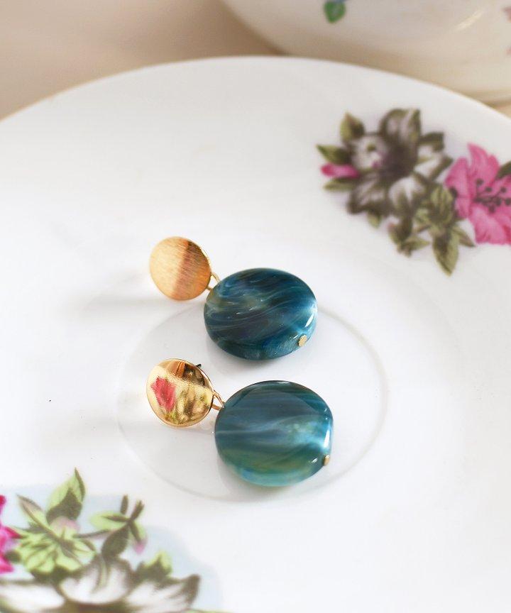 Beatnik Marble Earrings