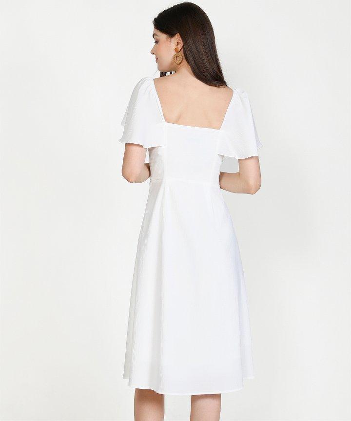 Madeleine Button Down Midi Dress - Scarlet (Restock)