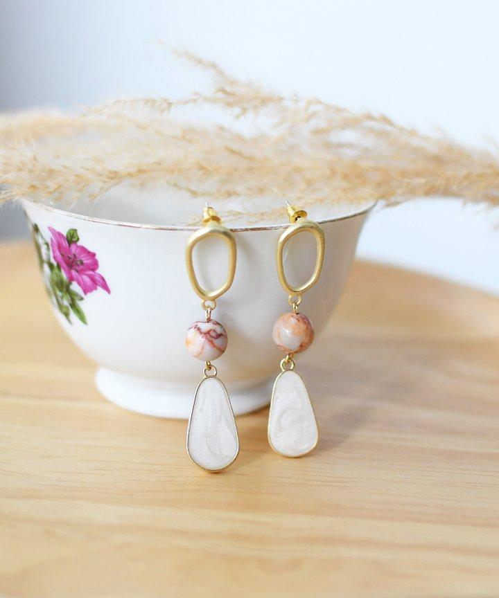 Lois Marble Drop Earrings