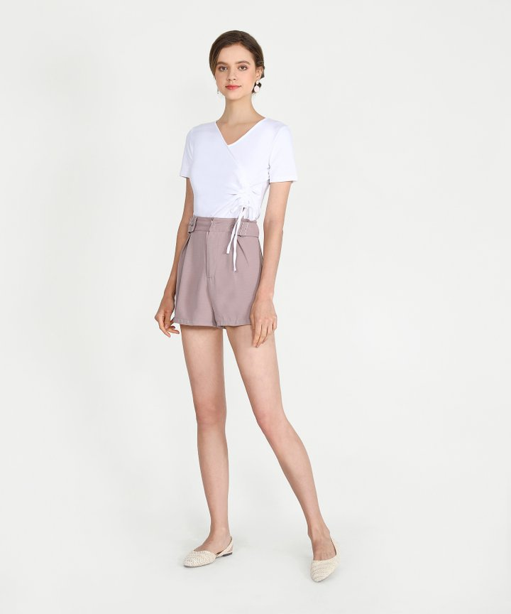 Sinead Ruched Top - White
