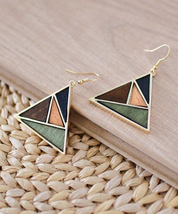 Picasso Colourblock Triangle Earrings