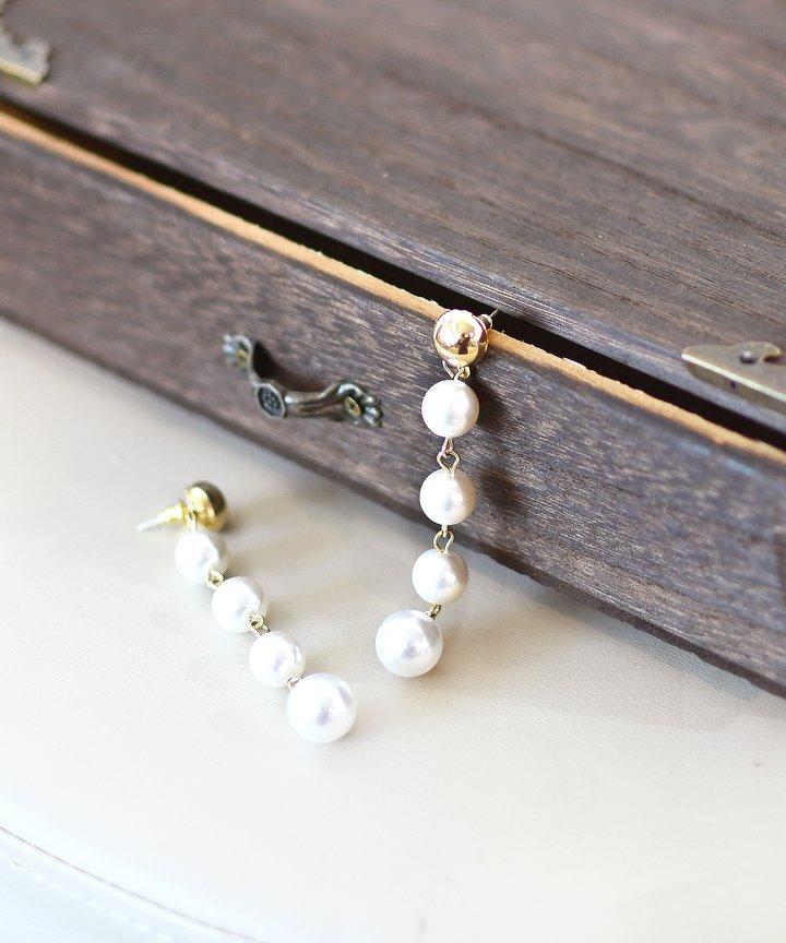 Minelli Multi Pearl Earrings