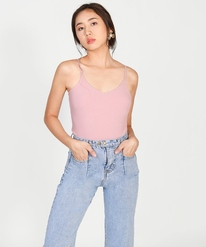 Serafina Knit Camisole - Pink