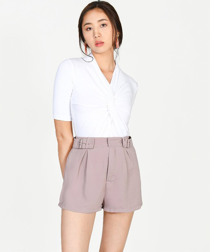 Amadea Knotted Top - White