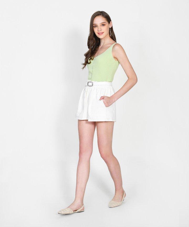 Iro Knit Camisole - Pear Green
