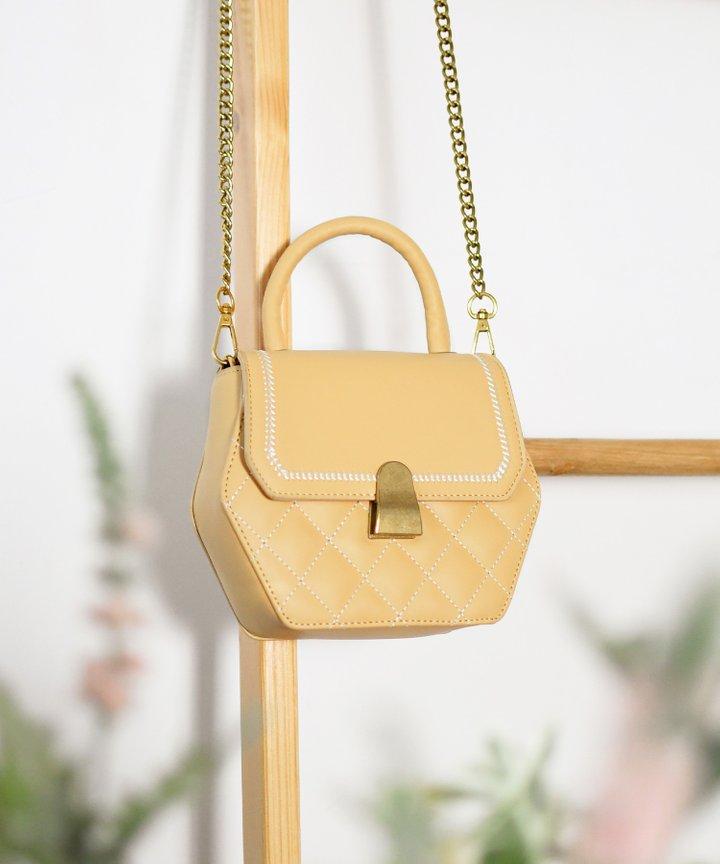 Morgan Hexagon Bag - Yellow