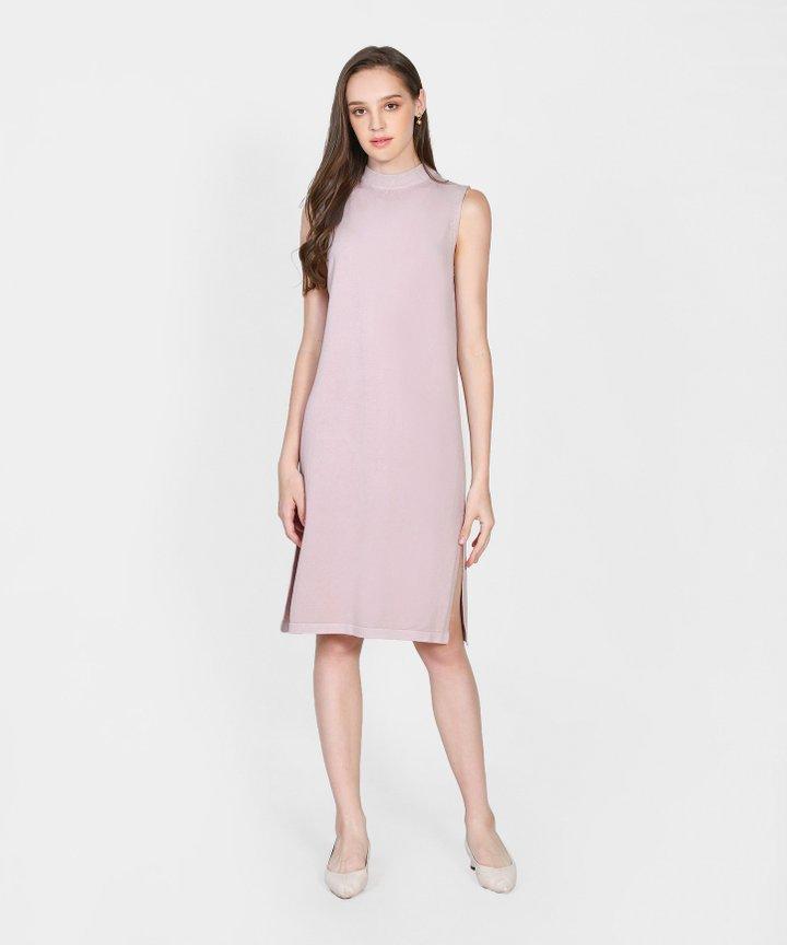 Elena Knit Midi Dress - Pale Lilac