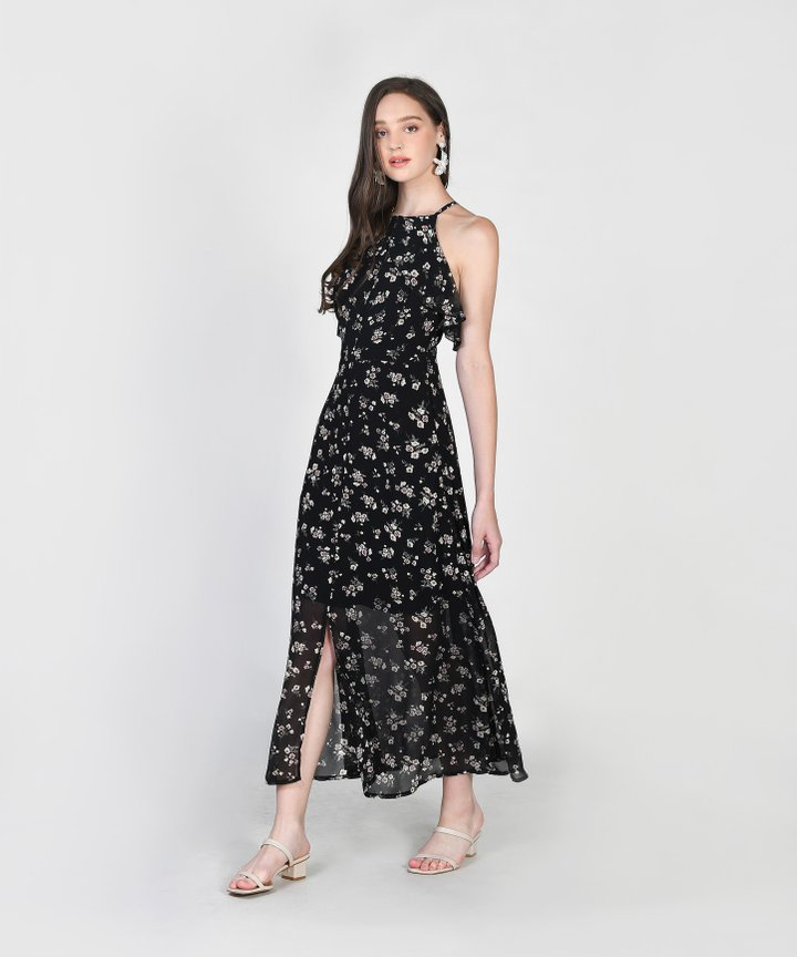 Gemmill Floral Maxi Dress - Black