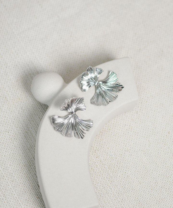 Panettiere Petal Statement Earrings - Silver