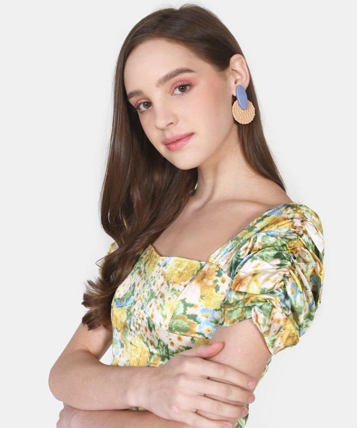 Vanna Circle Woven Earrings