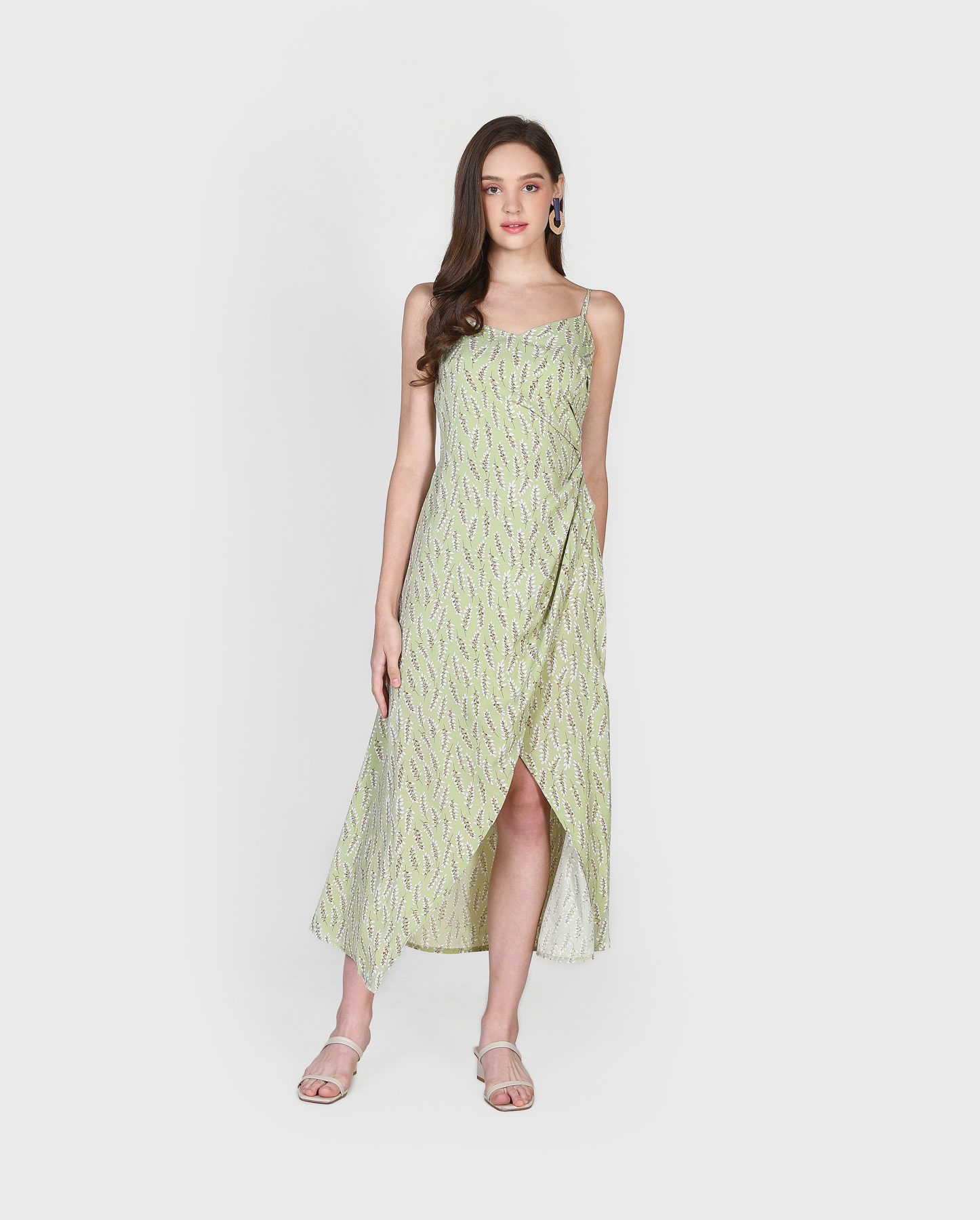 diana-ruched-floral-maxi-dress-sage-1