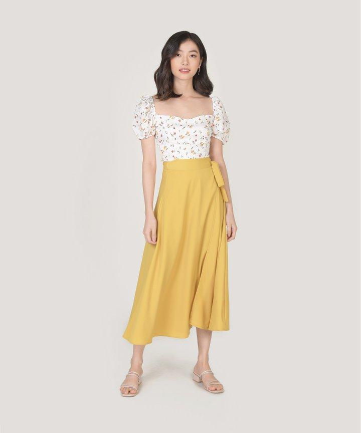 Arbery Midi Skirt - Marigold
