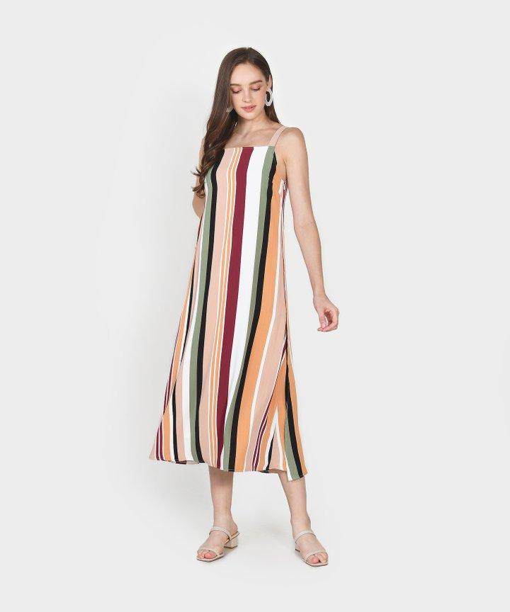 Nicolette Striped Maxi Dress - Blush Pink