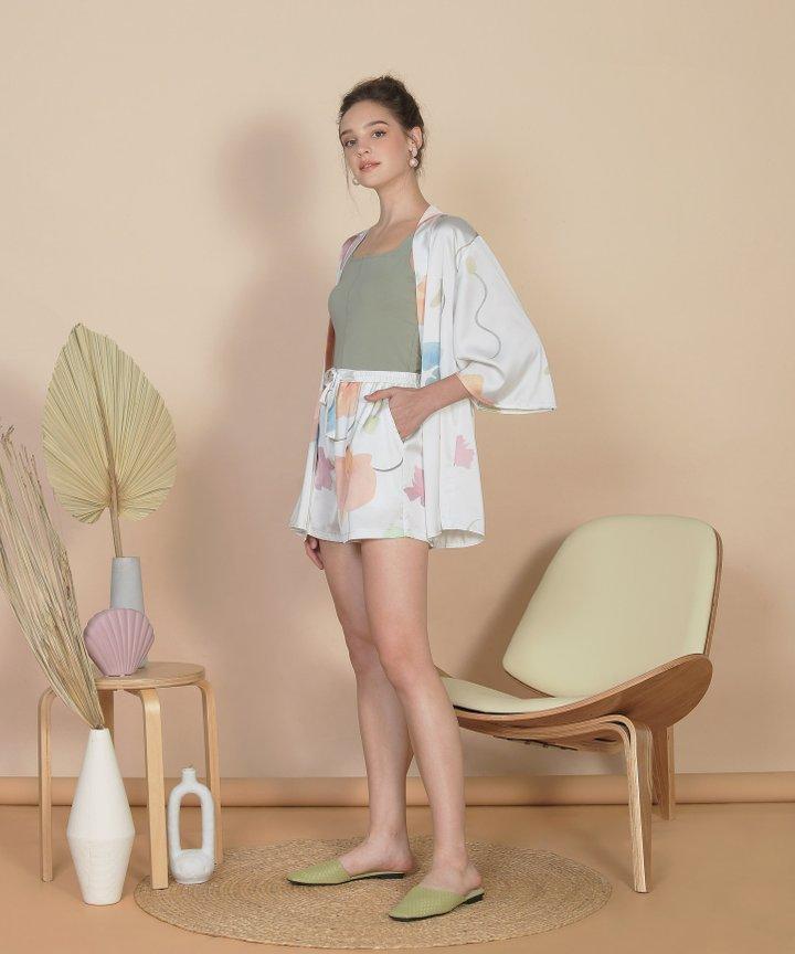 Bellflower Shorts - White (Restock)