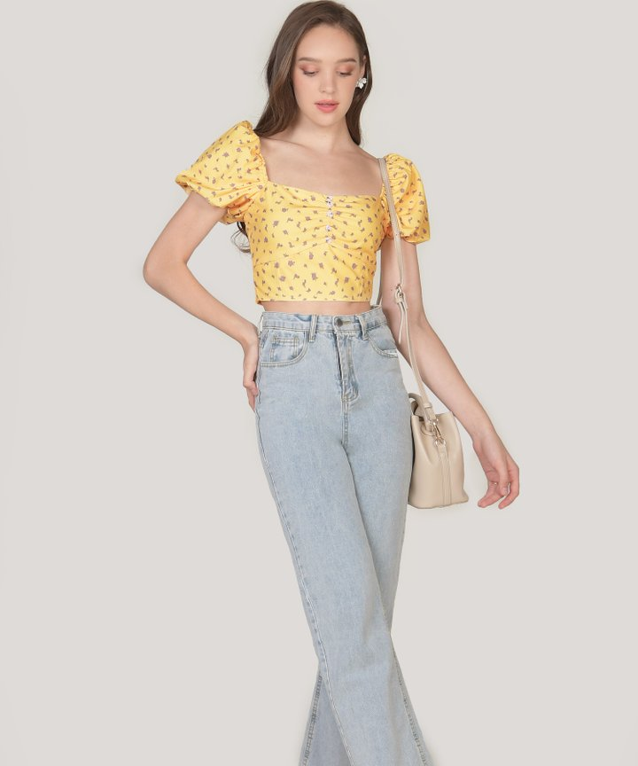 Constance Floral Cropped Top