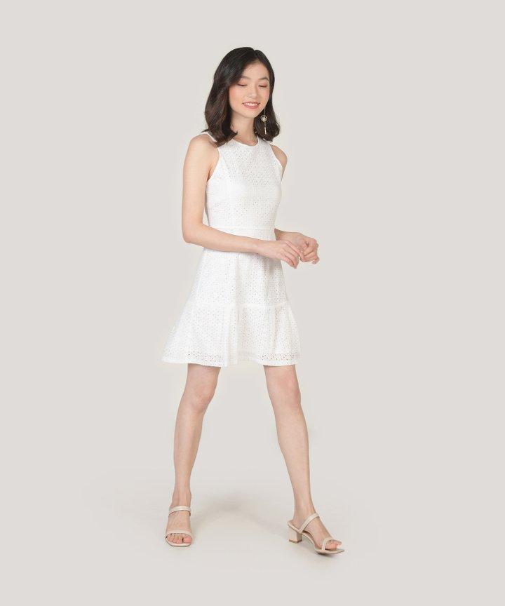 Lilah Eyelet Dress - White
