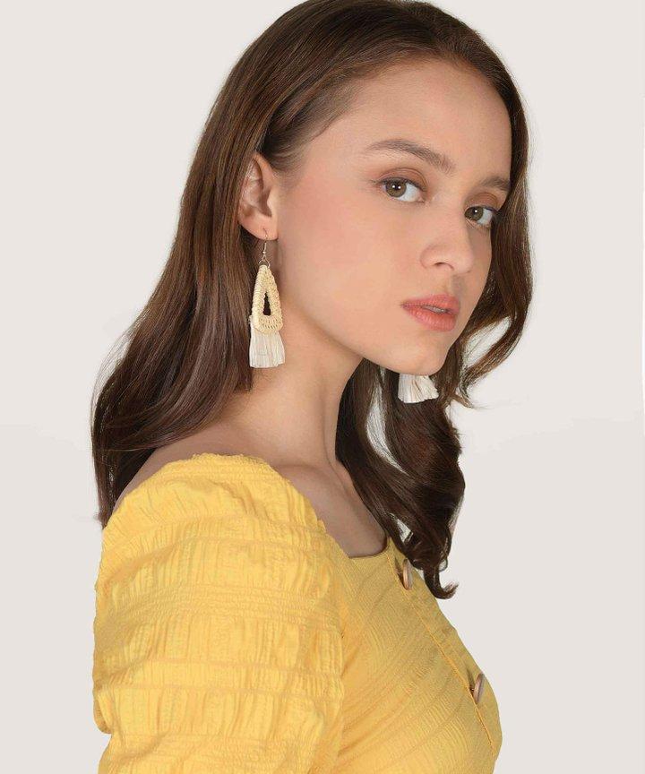 Cancun Triangle Woven Earrings