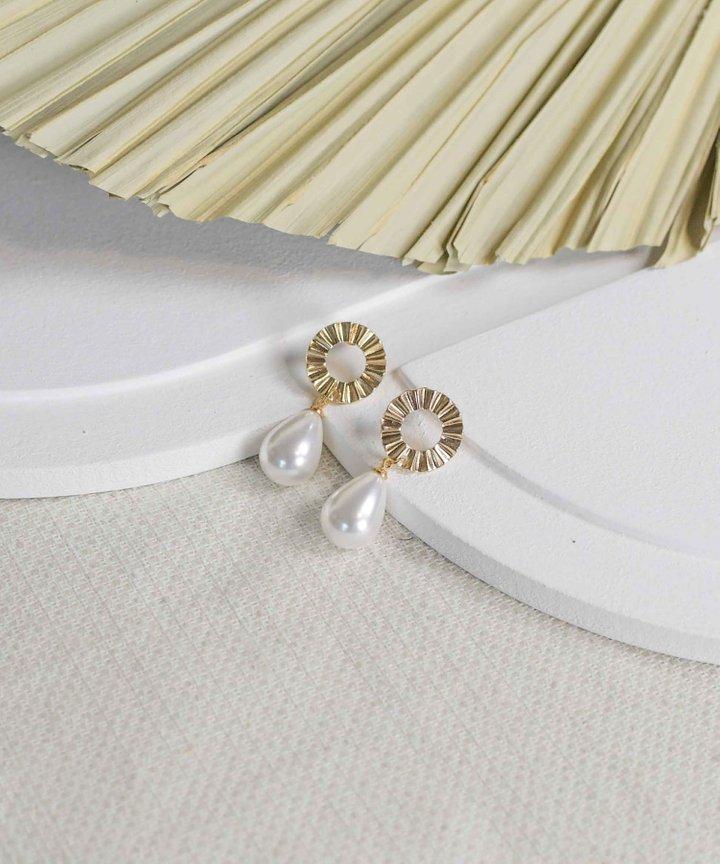 Pierre Teardrop Pearl Earrings